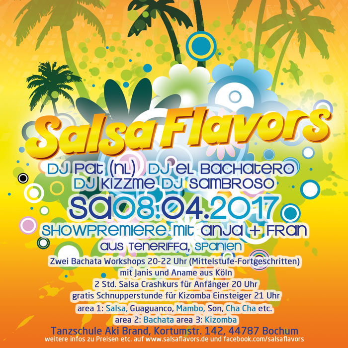 Salsa Flavors Party Flyer
